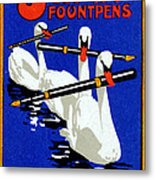 1920 Swan Fountain Pens Metal Print