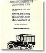 1921 - Dodge Brothers Business Car Truck Advertisement Metal Print