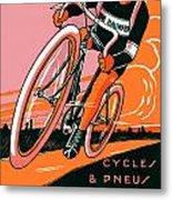 1921 - Van Hauwaert Bicycle Belgian Advertisement Poster - Color Metal Print