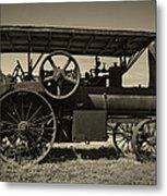 1921 Aultman Taylor Tractor Metal Print by Debra and Dave Vanderlaan