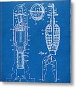 1921 Explosive Missle Patent Minimal Blueprint Metal Print by Nikki Marie Smith