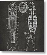 1921 Explosive Missle Patent Minimal Gray Metal Print