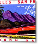 1922 Daylight Railroad Train Metal Print