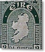 1922 Ireland Eire Stamp Metal Print