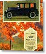 1923 - Cole Royal Sedan - Advertisement - Color Metal Print