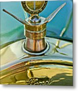1923 Ford Model T Hood Ornament Metal Print by Jill Reger