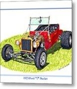 T Bucket Ford 1923 Metal Print
