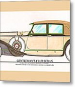 1923 Hispano Suiza Club Sedan By R.h.dietrich Metal Print