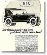 1924 - Oldsmobile Six Automobile Advertisement Metal Print