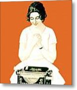 1924 - Olivetti Typewriter Advertisement Poster - Color Metal Print