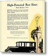 1924 - Reo Six Automobile Advertisement - Color Metal Print