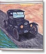 1924' Ford Model-t Touring Metal Print