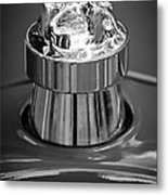 1924 Ford T Roadster Hood Ornament -331bw Metal Print