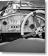 1925 Aston Martin 16 Valve Twin Cam Grand Prix Steering Wheel -0790bw Metal Print