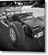 1925 Ford Model T Hot Rod Bw Metal Print