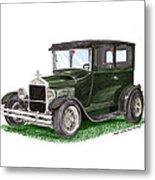 1926 Ford Tudor Sedan Street Rod Metal Print