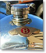 1927 Bentley Hood Ornament Metal Print