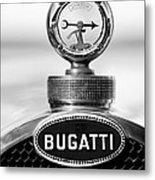 1928 Bugatti Type 44 Cabriolet Hood Ornament - Emblem Metal Print