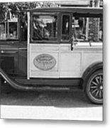 1928 Chevy Half Ton Pick Up In Black And White Metal Print