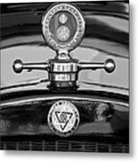 1928 Dodge Brothers Hood Ornament - Moto Meter Metal Print by Jill Reger