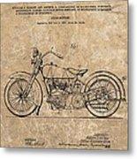 1928 Harley Davidson Motorcyle Patent Illustration Metal Print