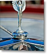 1928 Nash Coupe Hood Ornament 2 Metal Print