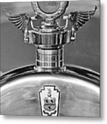 1928 Pierce-arrow Hood Ornament 2 Metal Print