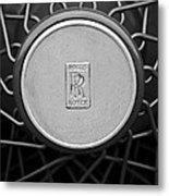 1928 Rolls-royce Spoke Wheel Metal Print