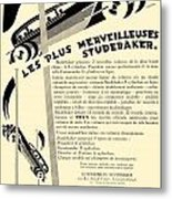 1929 - Studebaker Automobile Franch Advertisement Metal Print