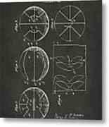 1929 Basketball Patent Artwork - Gray Metal Print by Nikki Marie Smith