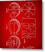 1929 Basketball Patent Artwork - Red Metal Print
