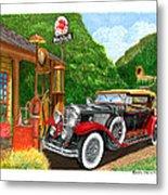 1929 Cadillac Dual Cowl Phaeton And Pegasus Metal Print