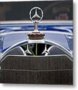 1929 Mercedes Benz S Erdmann And Rossi Cabiolet Hood Ornament Metal Print