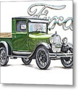 1929 Model A Ford Truck Metal Print