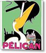 1930 - Pelican Cigarettes French Advertisement Poster - Color Metal Print