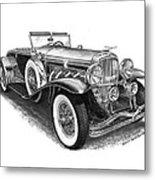 1930 Duesenberg Model J Metal Print by Jack Pumphrey
