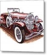 1930 Dusenberg Model J Metal Print