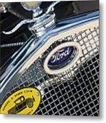 1930 Ford Model A - Radiator N Grill - 7479 Metal Print