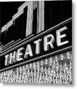 1930s 1940s Theater Marquee Theatre Metal Print