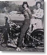 1930's Indian Motorcycle Mama Metal Print