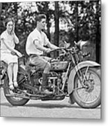 1930s Motorcycle Touring Metal Print by Daniel Hagerman