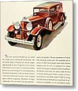 1931 - Packard - Advertisement - Color Metal Print