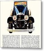 1931 - Packard Automobile Advertisement - Color Metal Print