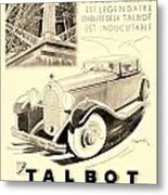 1931 - Talbot French Automobile Advertisement Metal Print