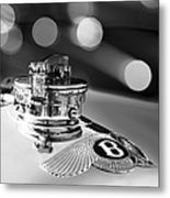1931 Bentley 4.5 Liter Supercharged Le Mans Hood Emblem -1122bw Metal Print