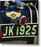 1931 Bentley 4.5 Liter Supercharged Le Mans Taillight Emblem Metal Print