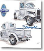 1931 Chevrolet Truck Hot Rod Metal Print