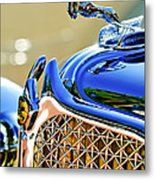 1931 Chrysler Cg Imperial Dual Cowl Phaeton Hood Ornament - Grille Metal Print