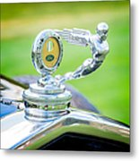 1931 Ford Model A Deluxe Fordor Hood Ornament Metal Print