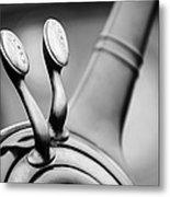 1931 Lincoln K Steering Wheel - Spark - Gas Controls -1865bw Metal Print